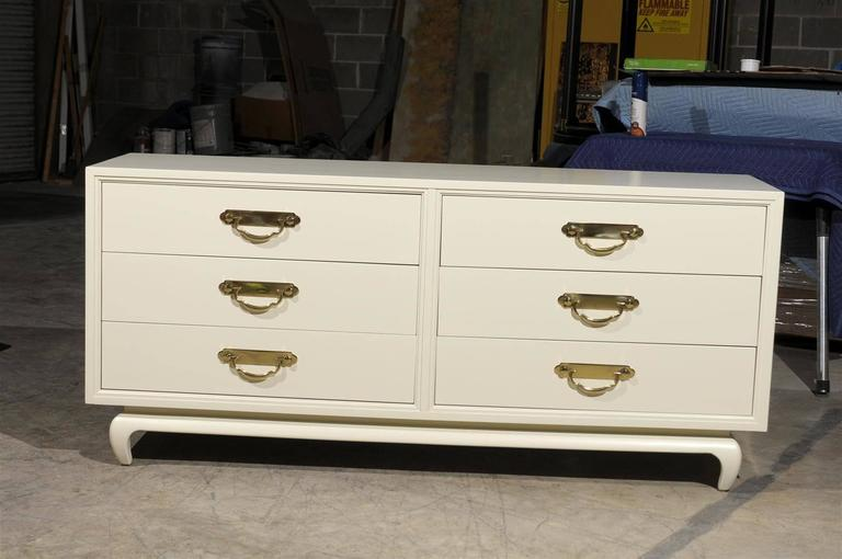 Restored American of Martinsville 6 Drawer Chest- Pair Available For Sale 3