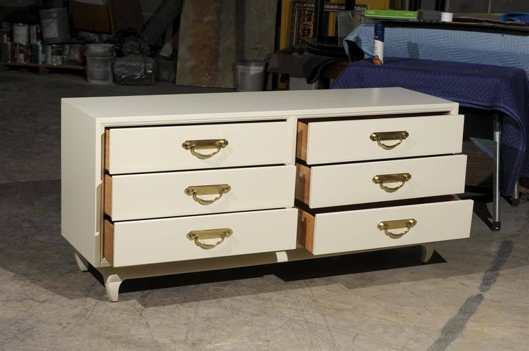 Restored American of Martinsville 6 Drawer Chest- Pair Available In Excellent Condition For Sale In Atlanta, GA