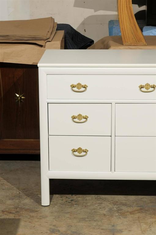 American Restored Vintage Chest by Century Furniture in Cream Lacquer For Sale
