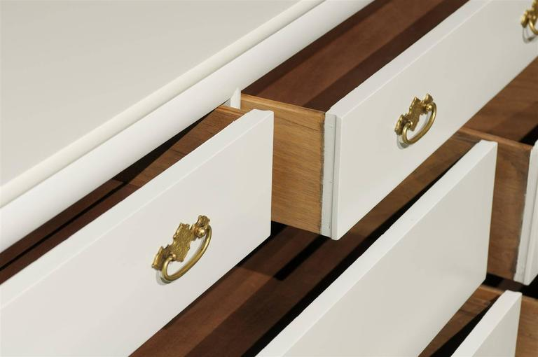 Restored Vintage Chest by Century Furniture in Cream Lacquer For Sale 3