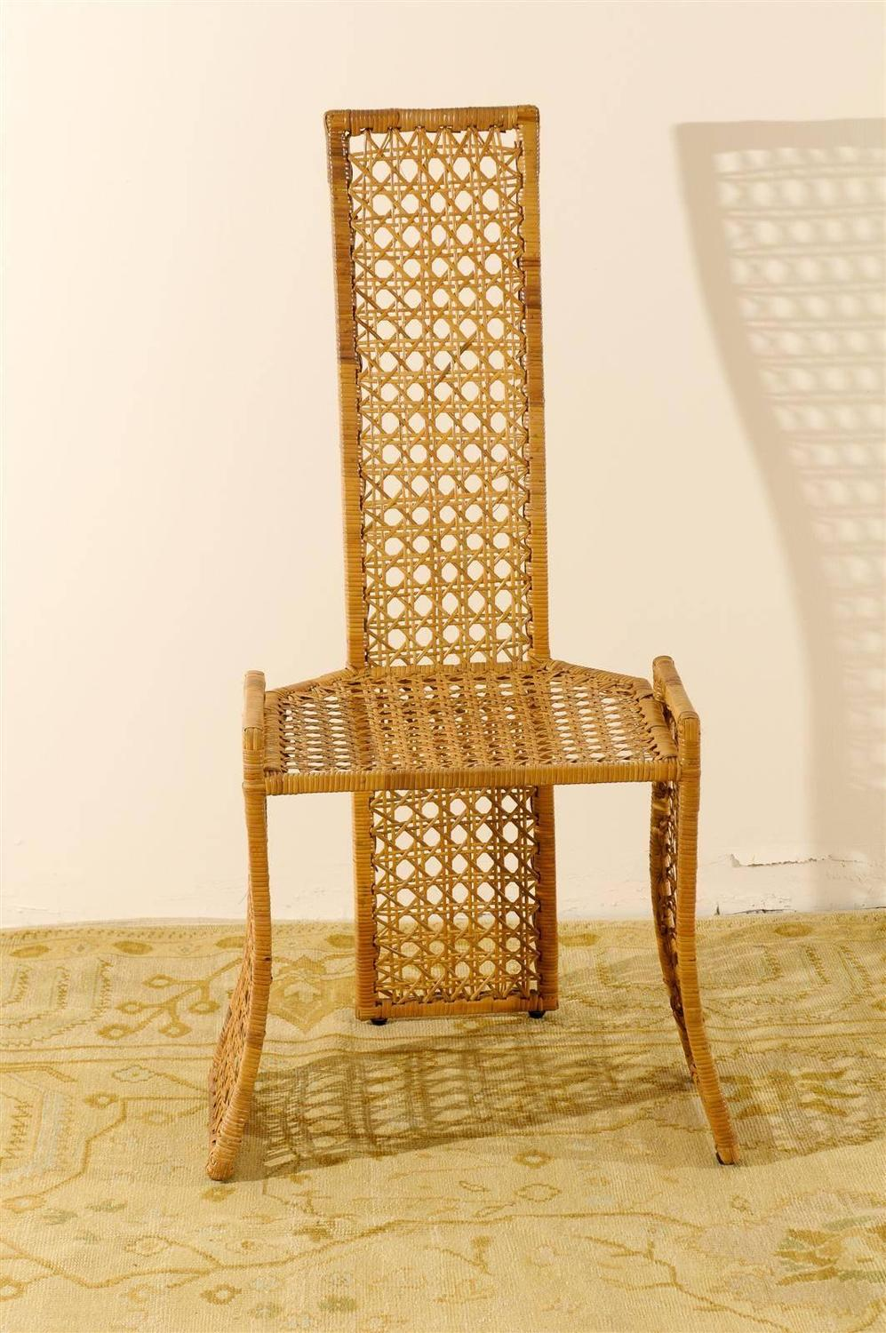 Fabulous Set Of Six Rattan Dining Chairs By Danny Ho Fong For Sale At 1stdibs