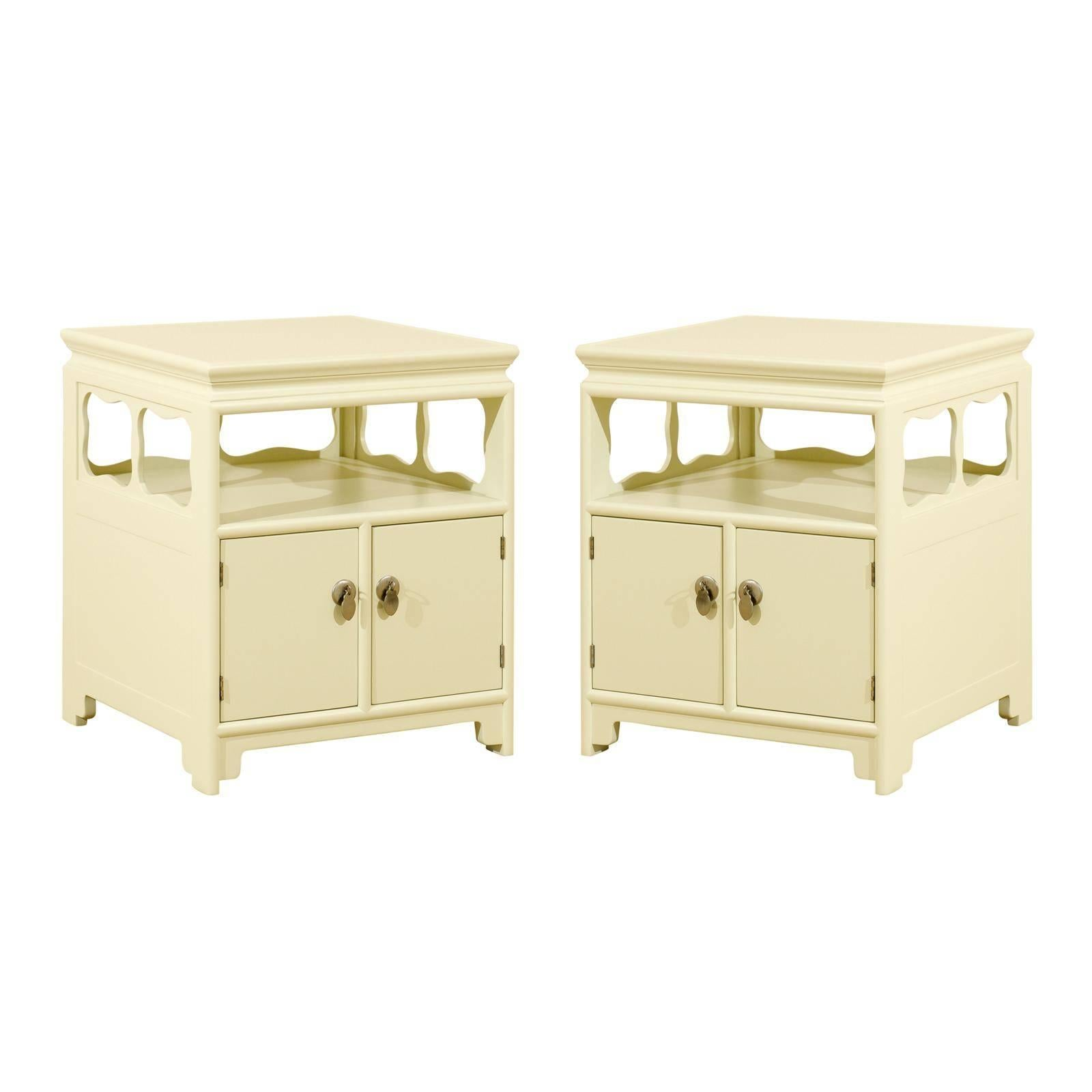 Restored Pair of Vintage End Tables or Nightstands by Baker