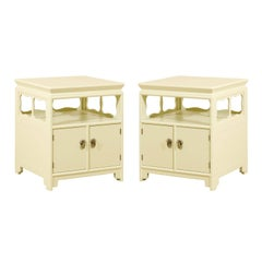 Restored Pair of Vintage End Tables or Nightstands by Baker