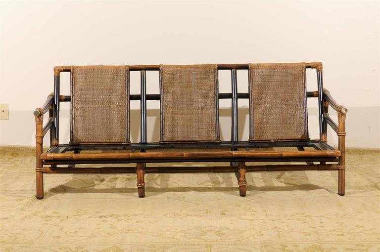 Rare Restored Sofa By John Wisner For Ficks Reed Four Available