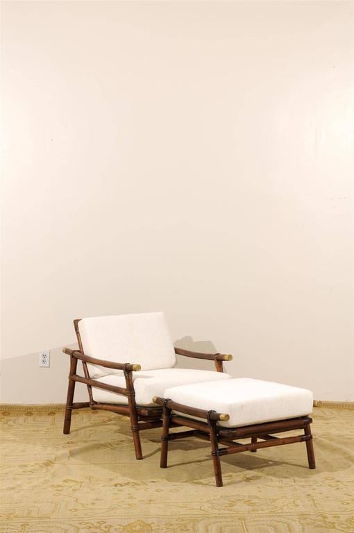 Mid-Century Modern Superb Restored Pair of Loungers by Wisner for Ficks Reed, circa 1954 For Sale