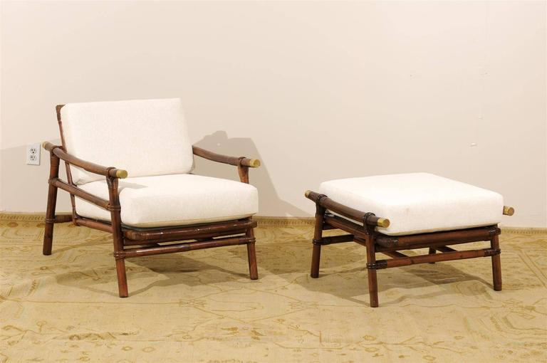 Mid-20th Century Superb Restored Pair of Loungers by Wisner for Ficks Reed, circa 1954 For Sale