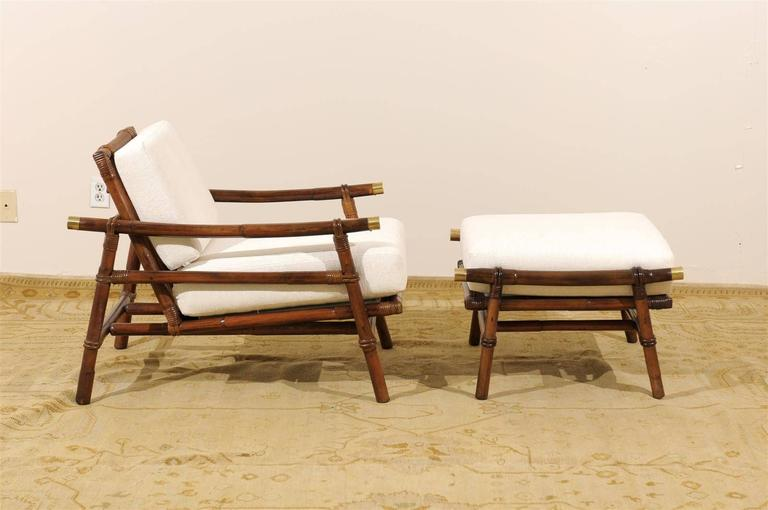 American Superb Restored Pair of Loungers by Wisner for Ficks Reed, circa 1954 For Sale