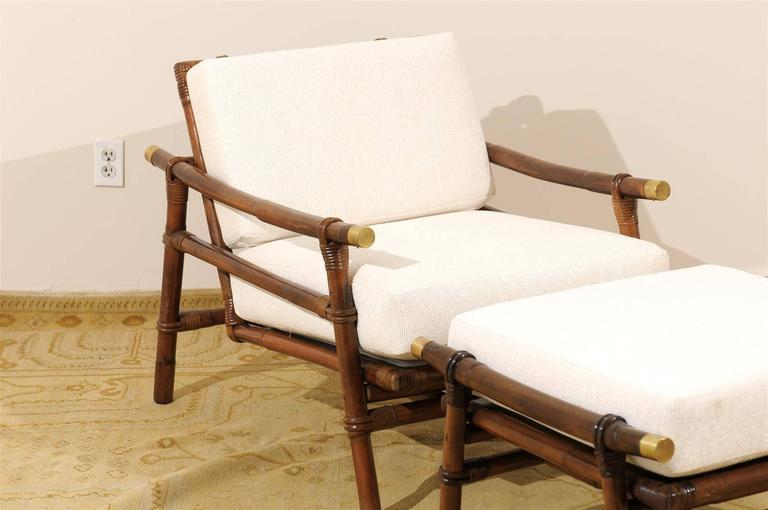 Superb Restored Pair of Loungers by Wisner for Ficks Reed, circa 1954 In Excellent Condition For Sale In Atlanta, GA
