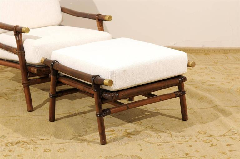 Superb Restored Pair of Loungers by Wisner for Ficks Reed, circa 1954 For Sale 1