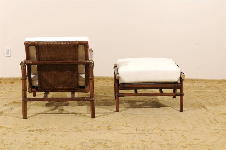 Brass Superb Restored Pair of Loungers by Wisner for Ficks Reed, circa 1954 For Sale