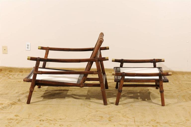 Superb Restored Pair of Loungers by Wisner for Ficks Reed, circa 1954 For Sale 3