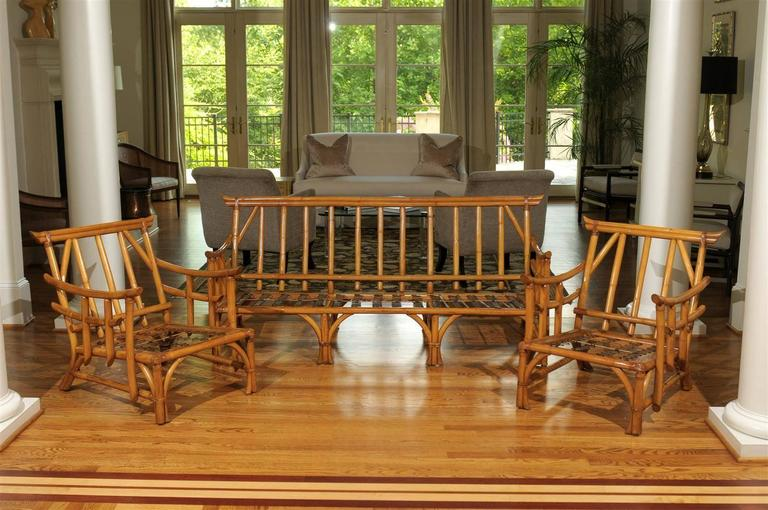 Magnificent Pair of Restored Vintage Rattan Pagoda Lounge  : abp072520160011Customl from www.1stdibs.com size 768 x 510 jpeg 72kB