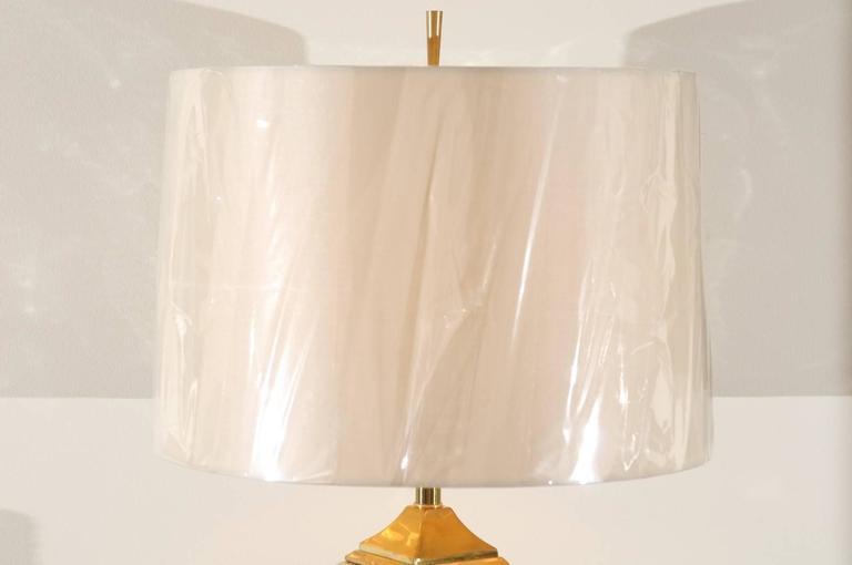 American Spectacular Pair of Custom Molten Mercury Glass Skyscraper Lamps For Sale