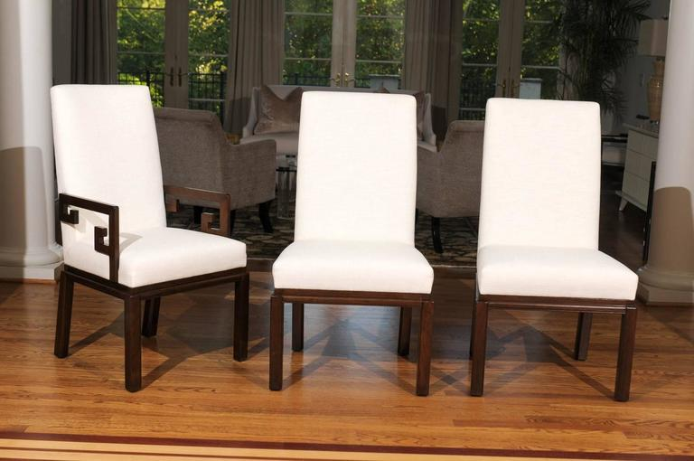 Late 20th Century Elegant Restored Set of Ten Parsons Style Dining Chairs by Baker, Circa 1970 For Sale