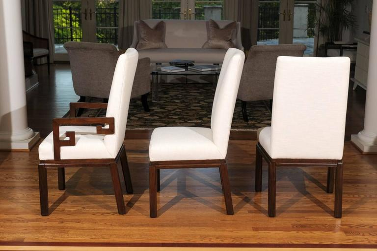 Elegant Restored Set of Ten Parsons Style Dining Chairs by Baker, Circa 1970 For Sale 1