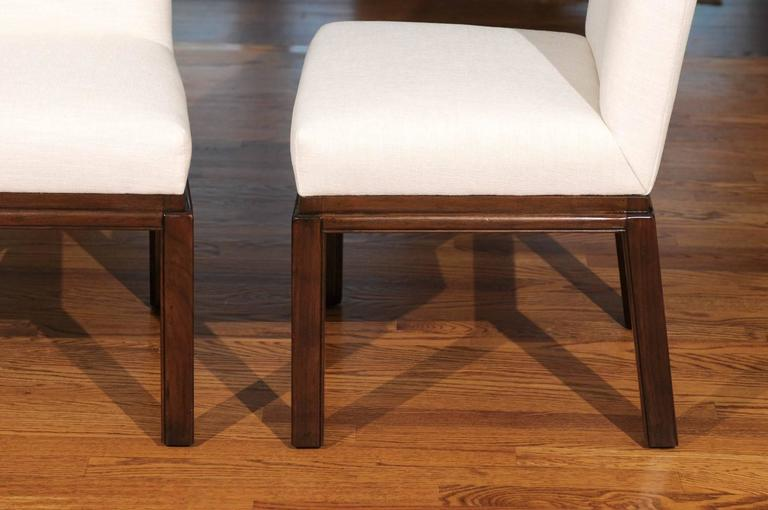 Elegant Restored Set of Ten Parsons Style Dining Chairs by Baker, Circa 1970 For Sale 2