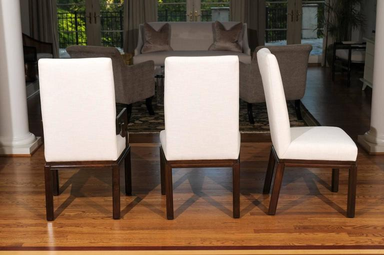 Elegant Restored Set of Ten Parsons Style Dining Chairs by Baker, Circa 1970 For Sale 3