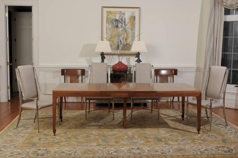 A Fabulous Vintage Extension Dining Table In Walnut By Baker Furniture Circa 1960 The