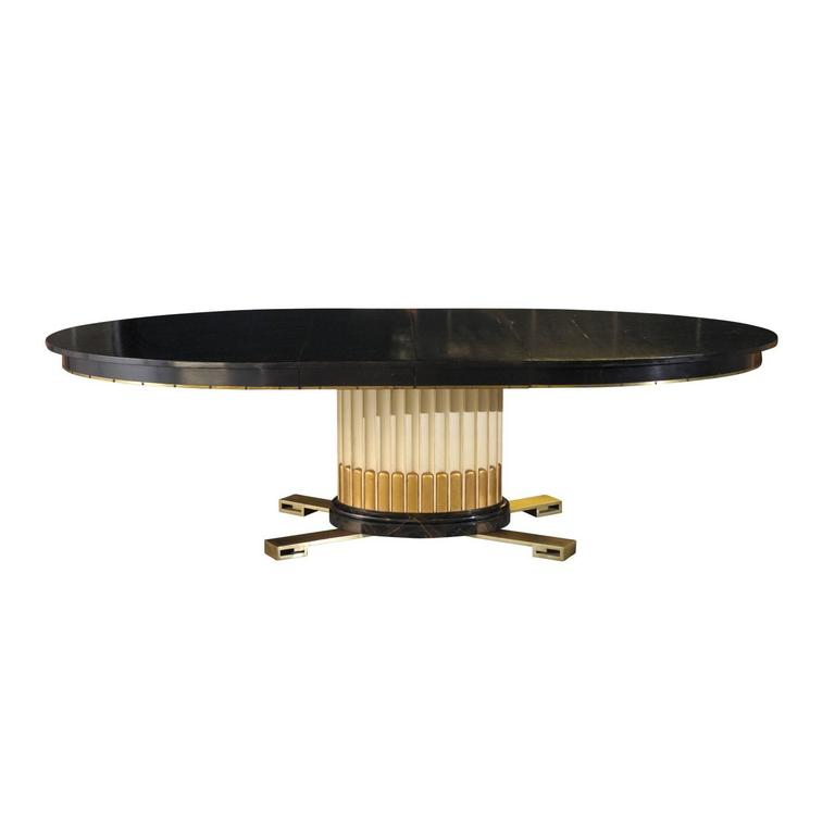 Stunning Art Deco Revival Extension Dining Table by Renzo Rutili