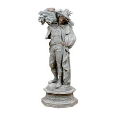 "Magnificent 19th Century Bronze ""Poitevin"" by Albert-Ernest Carrier-Belleuse"