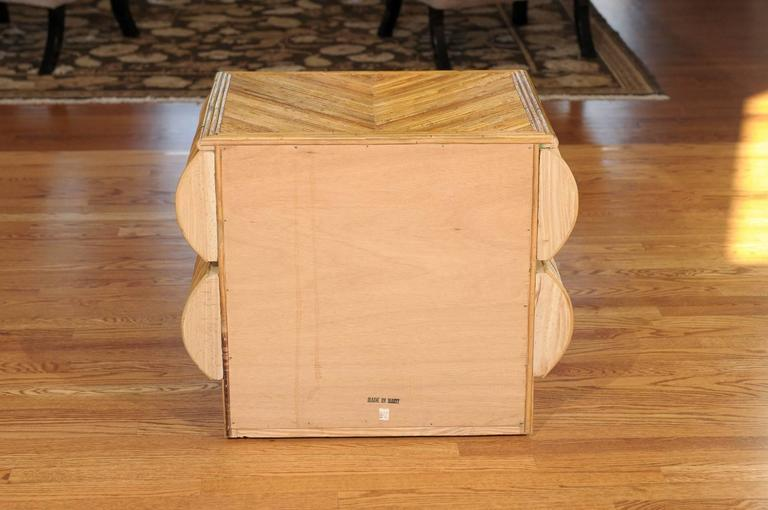 Stellar Restored Bullnose Two-Drawer Small Chest in Bamboo 1