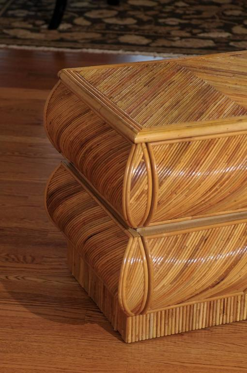 Stellar Restored Bullnose Two-Drawer Small Chest in Bamboo 4