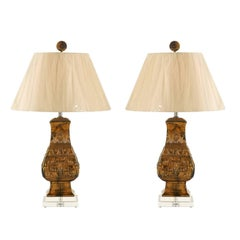 Chic Pair of Restored Vintage Cast Urn Lamps