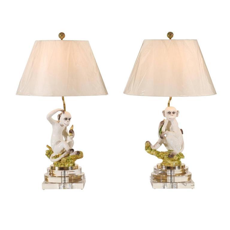 marvelous pair of vintage italian monkey sculptures as. Black Bedroom Furniture Sets. Home Design Ideas