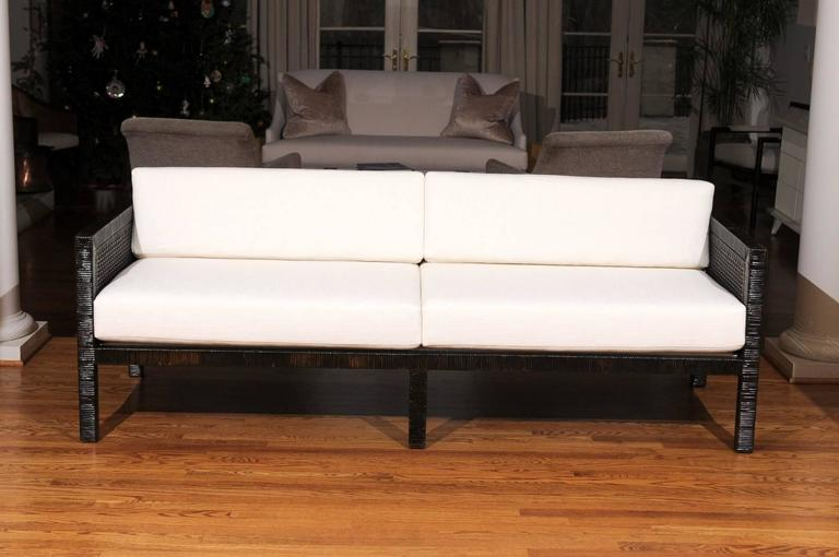 Exquisite Restored Tuxedo Sofa by Billy Baldwin for