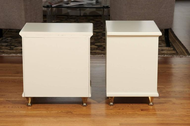 North American Chic Restored Pair of Small Chests in the Style of Renzo Rutili For Sale