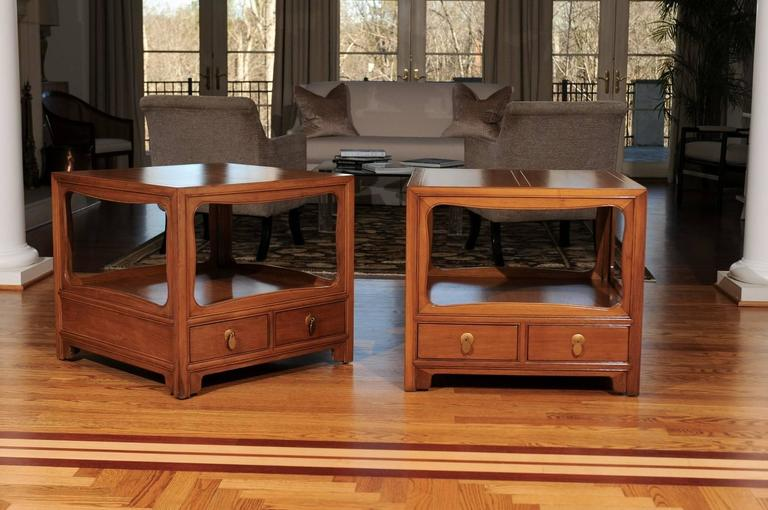 A stunning pair of end tables or night stands from the boutique