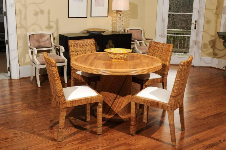 Elegant Circular Center or Dining Table by Bielecky Brothers 3