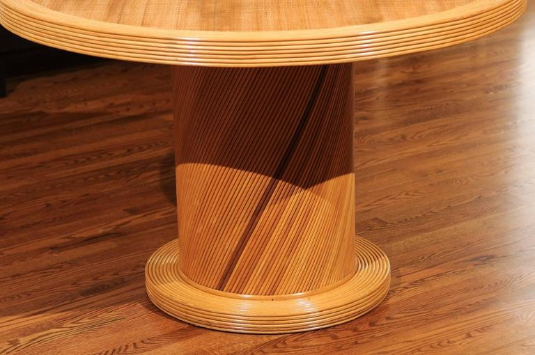 Bamboo Elegant Circular Center or Dining Table by Bielecky Brothers For Sale