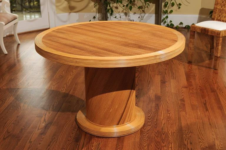 Late 20th Century Elegant Circular Center or Dining Table by Bielecky Brothers For Sale