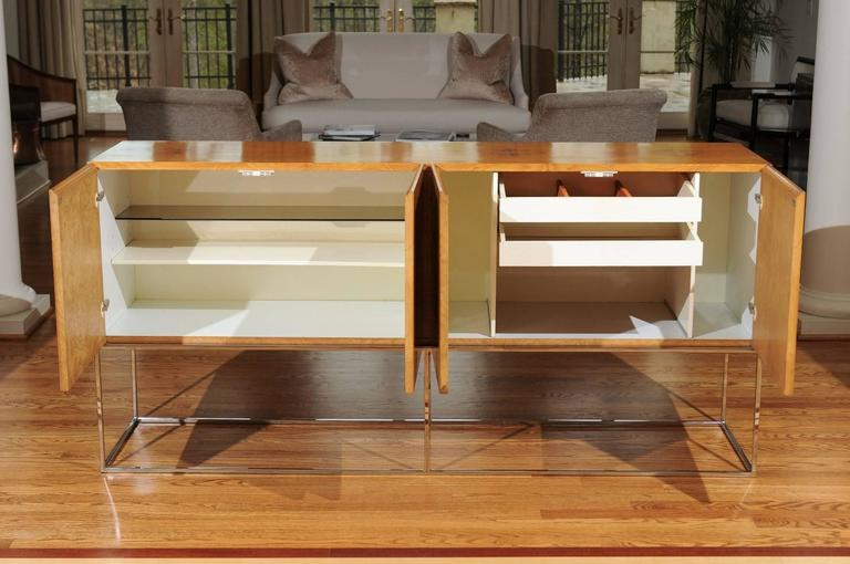 Exemplary Bookmatched Olivewood Credenza by Milo Baughman for Thayer Coggin For Sale 1