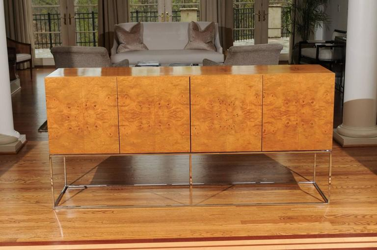 Exemplary Bookmatched Olivewood Credenza by Milo Baughman for Thayer Coggin For Sale 2