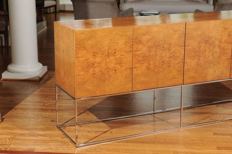 Exemplary Bookmatched Olivewood Credenza by Milo Baughman for Thayer Coggin For Sale 3