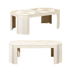 Stunning Restored Bamboo Marquetry Coffee Table or Bench, circa 1970