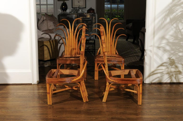 Jaw-Dropping Unique Pair of Custom-Made Palm Frond Chairs, circa 1950 In Good Condition For Sale In Atlanta, GA