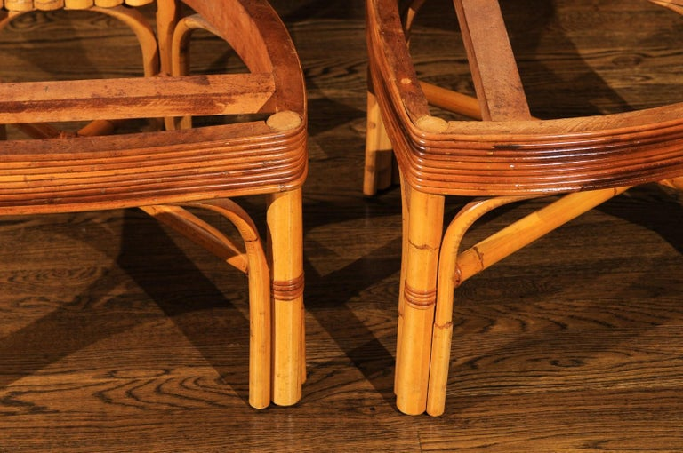 Jaw-Dropping Unique Pair of Custom-Made Palm Frond Chairs, circa 1950 For Sale 2