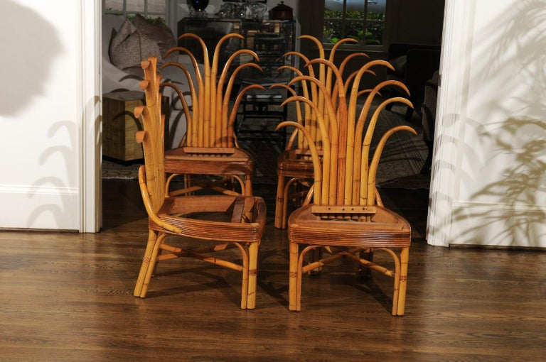 Jaw-Dropping Unique Pair of Custom-Made Palm Frond Chairs, circa 1950 For Sale 5