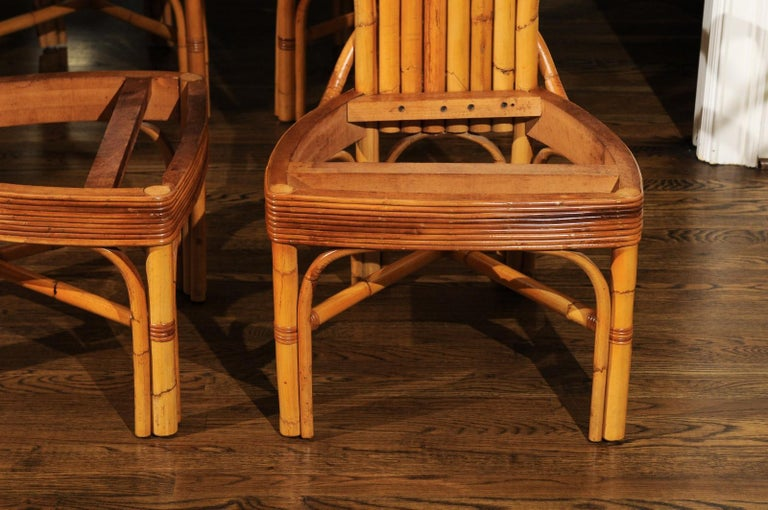 Jaw-Dropping Unique Pair of Custom-Made Palm Frond Chairs, circa 1950 For Sale 6