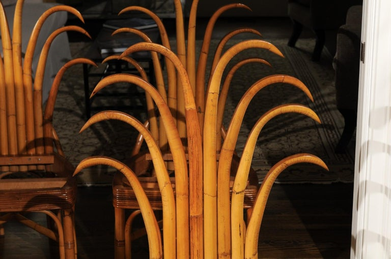 Jaw-Dropping Unique Pair of Custom-Made Palm Frond Chairs, circa 1950 For Sale 7