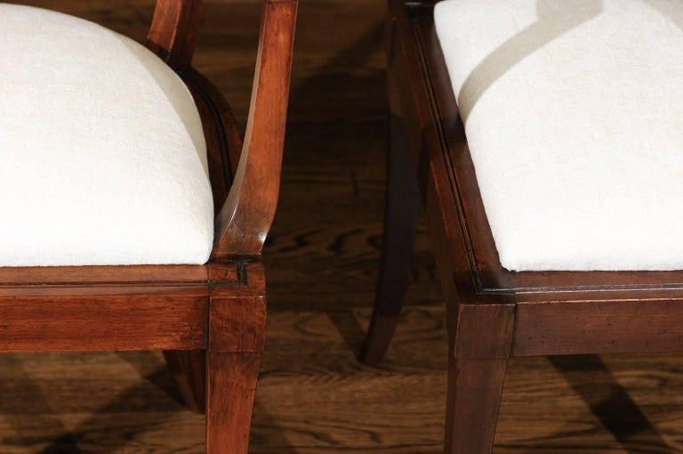 American Exquisite Set of Ten Klismos Cane Dining Chairs by Baker, circa 1958 For Sale
