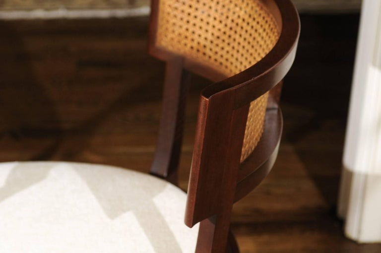 Mid-20th Century Exquisite Set of Ten Klismos Cane Dining Chairs by Baker, circa 1958 For Sale