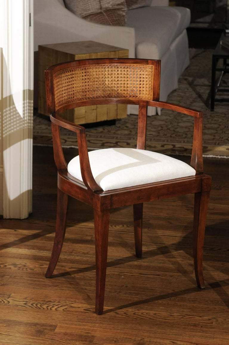 Exquisite Set of Ten Klismos Cane Dining Chairs by Baker, circa 1958 For Sale 2