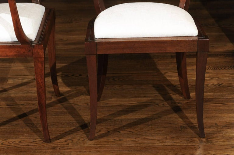 Exquisite Set of Ten Klismos Cane Dining Chairs by Baker, circa 1958 For Sale 4