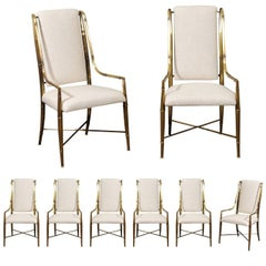 Magnificent Set of Eight Dining Chairs by Weiman/Warren Lloyd for Mastercraft