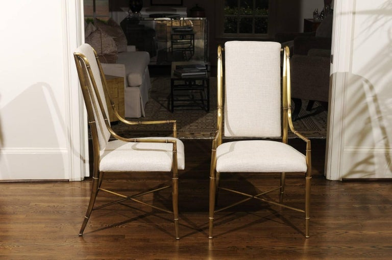 Mid-Century Modern Magnificent Set of Ten Dining Chairs by Weiman/Warren Lloyd for Mastercraft For Sale
