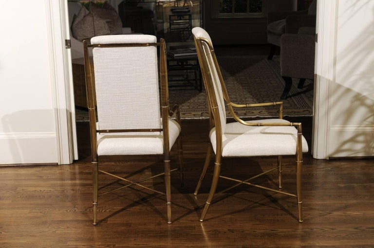 Italian Magnificent Set of Ten Dining Chairs by Weiman/Warren Lloyd for Mastercraft For Sale